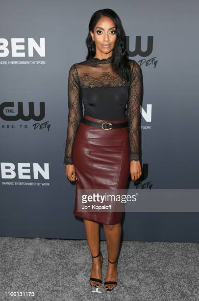 Azie Tesfai attends the The CW's Summer 2019 TCA Party sponsored by Branded Entertainment Network at The Beverly Hilton Hotel on August 04, 2019 in...