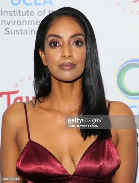 Azie Tesfai attends UCLA's 2018 Institute of the Environment and Sustainability Gala on March 22 2018 in Beverly Hills California