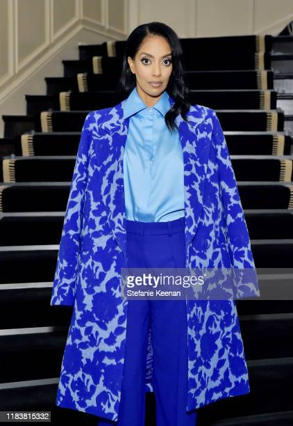 Azie Tesfai attends VIOLET GREY x Victoria Beckham Beauty LA Dinner hosted by Lynda Resnick and Cassandra Grey at a Private Residence on November 20...