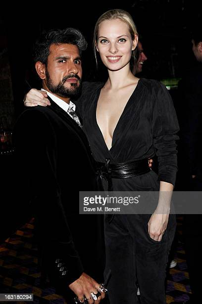 Azim Majid and Dioni Tabbers attend an after party following the 'Welcome To The Punch' UK Premiere at the Hippodrome Casino on March 5 2013 in...