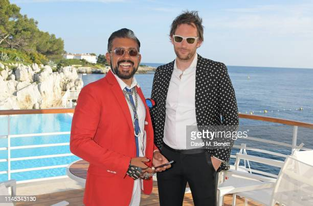 Azim Majid and Marc JacquesBurton attend the Gentleman's Journal and Chopard Road To Cannes dinner during the 72nd International Cannes Film Festival...