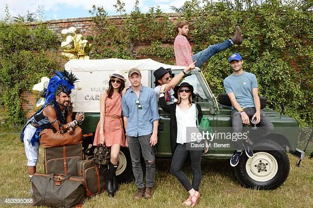 Azim Majid Gemma Chan Sam Reid Harry Treadaway Luke Treadaway Holliday Grainger and Douglas Booth attend The Mulberry Wilderness Picnic with Cara...