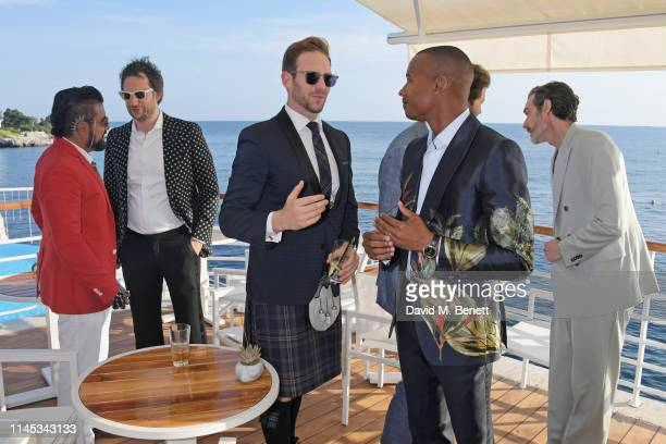Azim Majid Marc JacquesBurton Craig McGinlay Eric Underwood and Richard Biedul attend the Gentleman's Journal and Chopard Road To Cannes dinner...