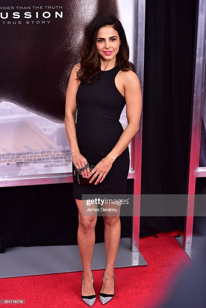 Azita Ghanizada attends the 'Concussion' premiere at AMC Loews Lincoln Square on December 16, 2015 in New York City.