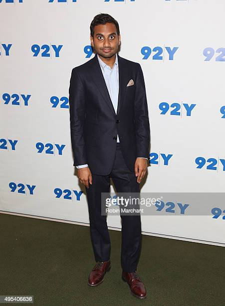 "Aziz Anasari attends Aziz Anasari: ""Master Of None"" Screening And Conversation With Jon Hamm at 92nd Street Y on November 2, 2015 in New York City."