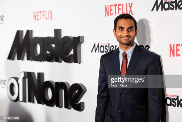 "Aziz Ansari attends ""Master Of None"" Season 2 premiere at SVA Theatre on May 11, 2017 in New York City."