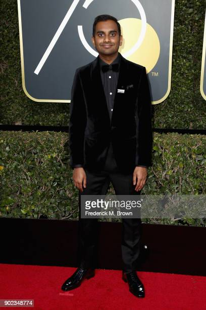 Aziz Ansari attends The 75th Annual Golden Globe Awards at The Beverly Hilton Hotel on January 7 2018 in Beverly Hills California