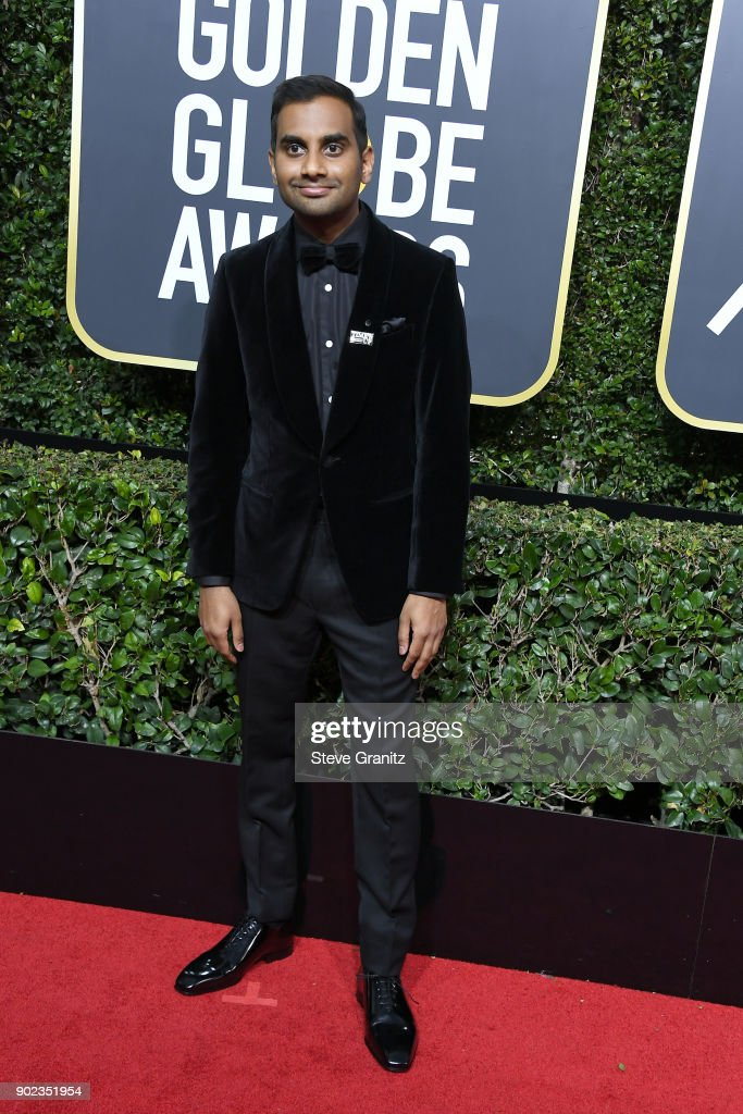 Aziz Ansari attends The 75th Annual Golden Globe Awards at The Beverly Hilton Hotel on January 7, 2018 in Beverly Hills, California.