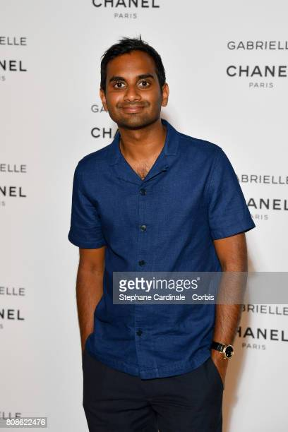 Aziz Ansari attends the launch party for Chanel's new perfume 'Gabrielle' as part of Paris Fashion Week on July 4 2017 in Paris France