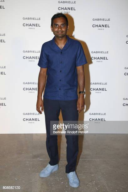Aziz Ansari attends the launching Party of Chanel's new perfume 'Gabrielle' as part of Paris Fashion Week on July 4 2017 in Paris France