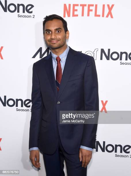 """Aziz Ansari attends the """"Master Of None"""" Season 2 Premiere at SVA Theatre on May 11, 2017 in New York City."""