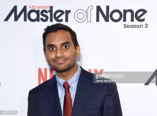 Aziz Ansari attends the 'Master Of None' Season 2 Premiere at SVA Theatre on May 11 2017 in New York City