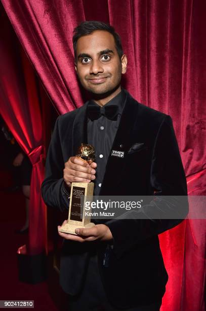 Aziz Ansari attends the Netflix Golden Globes after party at Waldorf Astoria Beverly Hills on January 7, 2018 in Beverly Hills, California.