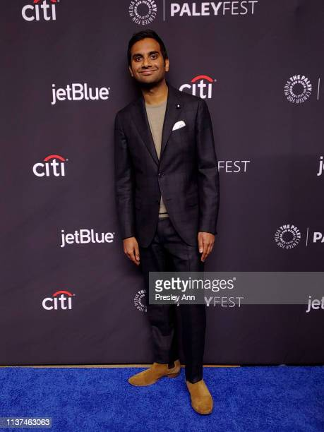 Aziz Ansari attends The Paley Center For Media's 2019 PaleyFest LA 'Parks And Recreation' 10th Anniversary Reunion at Dolby Theatre on March 21 2019...