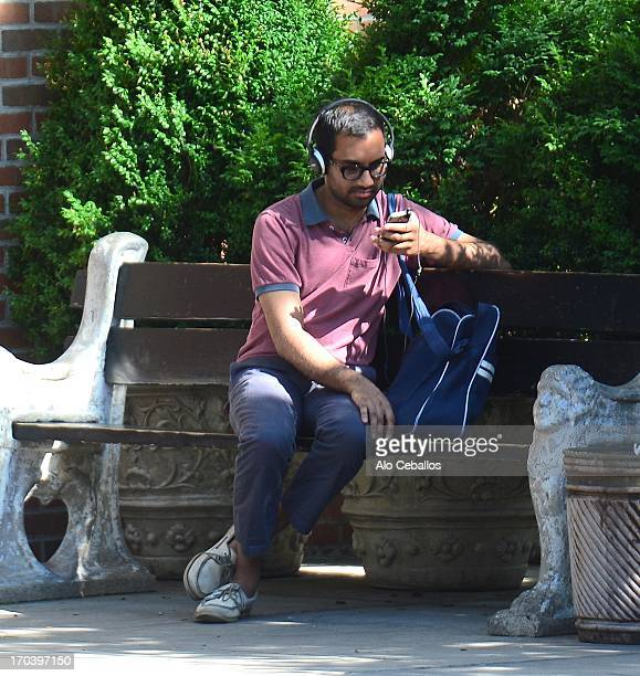 Aziz Ansari is seen in Soho on June 12 2013 in New York City