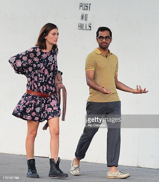 Aziz Ansari is seen in the West Village on June 8 2013 in New York City