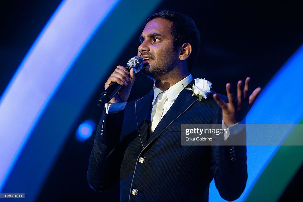 Aziz Ansari performs in The Comedy Tent during the 2012 Bonnaroo Music and Arts Festival on June 8, 2012 in Manchester, Tennessee.