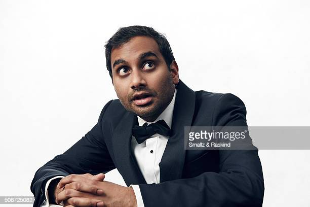 Aziz Ansari poses for a portrait during the 21st Annual Critics' Choice Awards at Barker Hangar on January 17 2016 in Santa Monica California