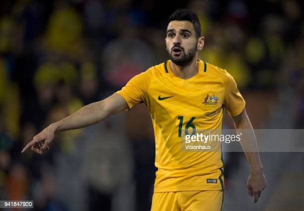 Aziz Behich of Australia during the International Friendly match between Australia and Colombia at Craven Cottage on March 27 2018 in London England