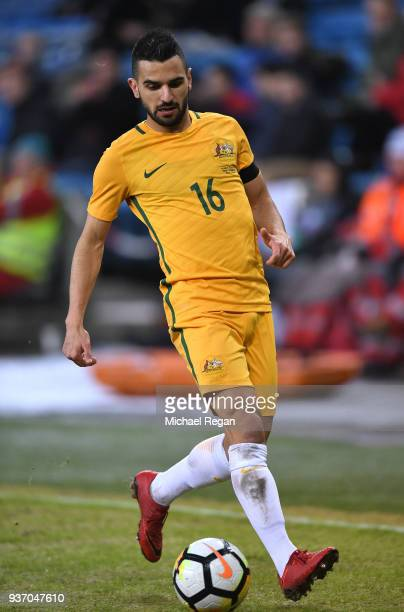 Aziz Behich of Australia in action during the International Friendly match between Norway and Australia at Ullevaal Stadion on March 23 2018 in Oslo...