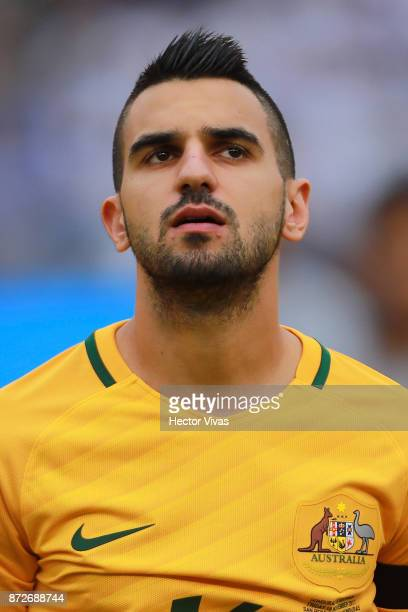 Aziz Behich of Australia poses prior to a first leg match between Honduras and Australia as part of FIFA World Cup Qualifiers Play Off at Estadio...