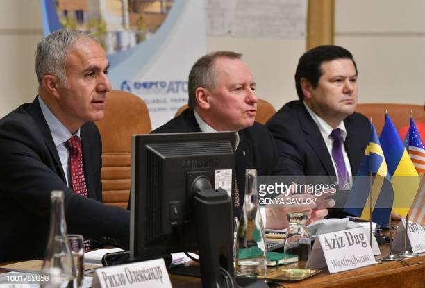 Aziz Dag the Westinghouse Electric Company Vice President and Managing Director Northern Europe Yuriy Nedashkovsky Ukrainian State nuclear generation...