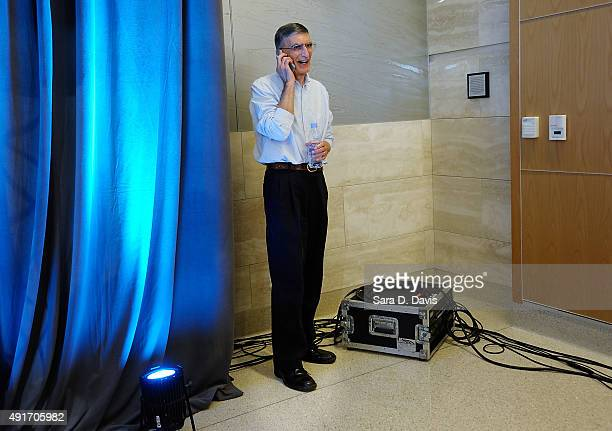 Aziz Sancar the Sarah Graham Kenan Professor of Biochemistry and Biophysics at the University of North Carolina School of Medicine stands in a corner...
