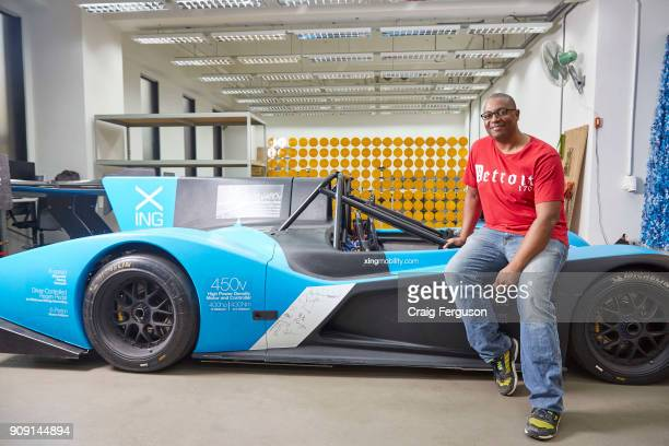 Azizi Tucker CTO of Xing Mobility with their prototype electric race car Miss E Tucker formerly of NASA and Tesla cofunded the Taiwan electric...