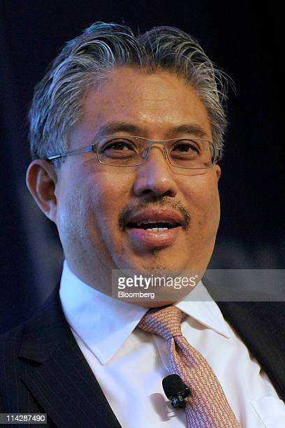Azman Mokhtar chief executive officer of Khazanah Nasional Berhad speaks at an investment conference with executives from Malaysia at NYSE Euronext...