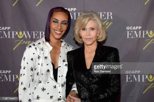 AzMarie Livingston and Jane Fonda attend Empower Party For Youth at The Fox Theatre on November 14 2019 in Atlanta Georgia