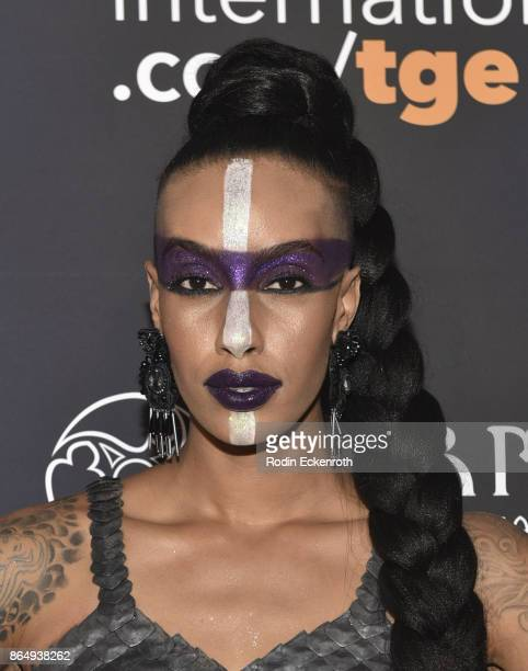 Azmarie Livingston arrives at the 2017 MAXIM Halloween Party at LA Center Studios on October 21, 2017 in Los Angeles, California.