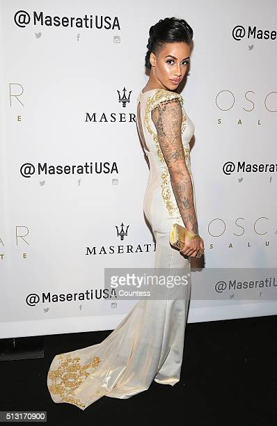 AzMarie Livingston attends the 2016 Oscar Salute Hosted By Kevin Hart Academy Awards Screening And AfterParty at W Hollywood on February 28 2016 in...