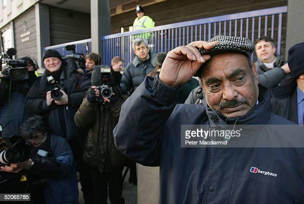 Azmat Begg the father of Moazzam Begg awaits news outside Paddington Green police station January 26 in London England Moazzam Begg Martin Mubanga...