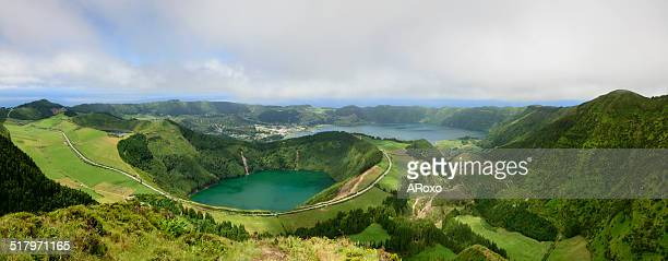 Azorean lakes panoramic