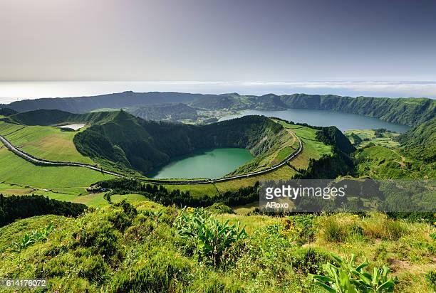 azores amazing landscape - azores fotografías e imágenes de stock
