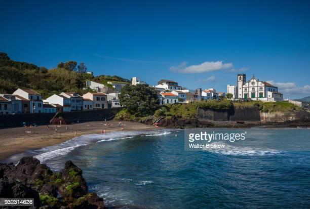 azores, sao miguel island, sao roque, church - azores stock photos and pictures