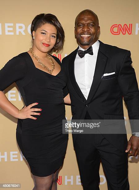 Azriel Crews and Terry Crews attend 2013 CNN Heroes An All Star Tribute at The American Museum of Natural History on November 19 2013 in New York...