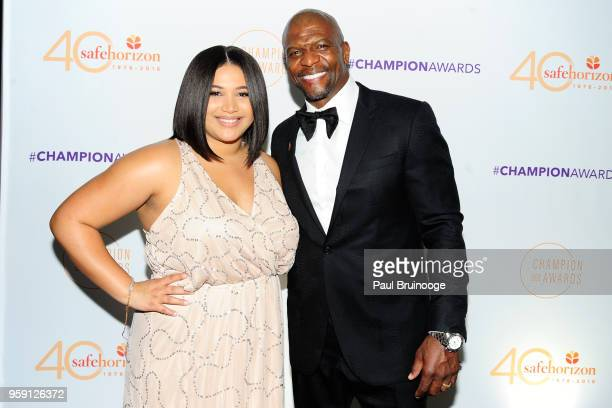 Azriel Crews and Terry Crews attend Safe Horizon's Champion Awards at The Ziegfeld Ballroom on May 15 2018 in New York City