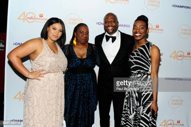 Azriel Crews Tarana Burke Kaia Burke Terry Crews attend Safe Horizon's Champion Awards at The Ziegfeld Ballroom on May 15 2018 in New York City