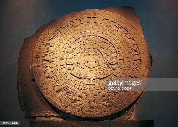 Aztec calendar 15th century Mexico Aztec civilisation Mexico City Museo Nacional De Antropología