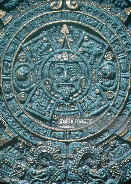 asteca calendário - astecas imagens e fotografias de stock
