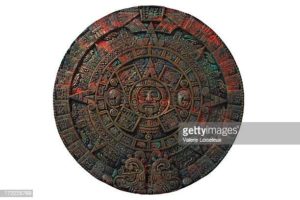 aztec calendar - mexican god stock pictures, royalty-free photos & images