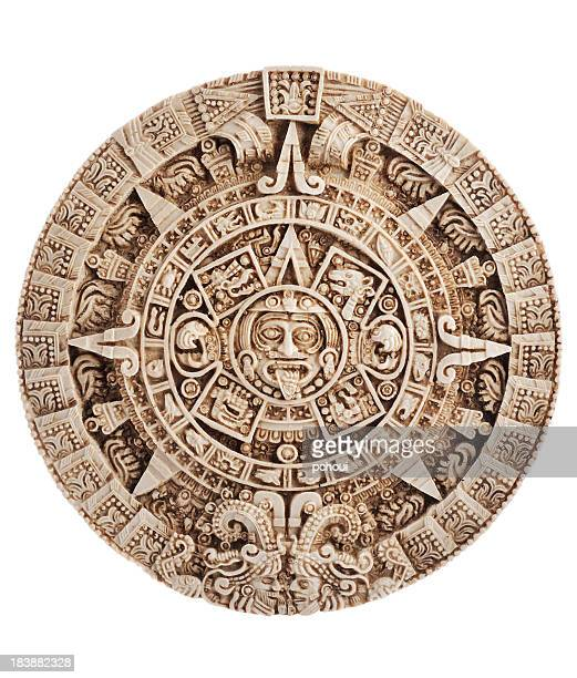 Aztec calendar, Stone of the sun, Mexico, clipping path included