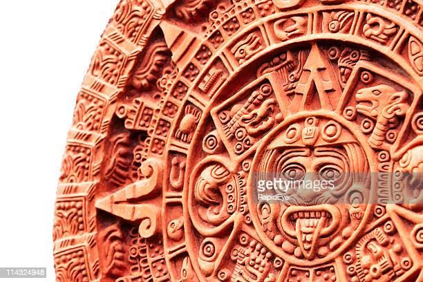 azteca calendario de piedra del sol - calendario azteca fotografías e imágenes de stock