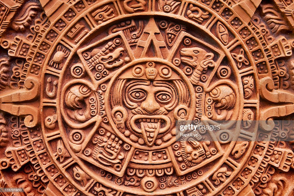Aztec Calendar Stone.Aztec Calendar Stone Of The Sun Stock Photo Getty Images