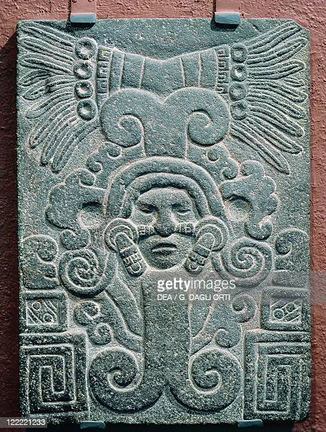 Aztec civilization Mexico 15th century Stele representing the birth of Quetzalcoatl