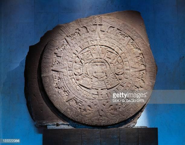 Aztec civilization Mexico 15th century The 'Stone of the Sun' or 'Aztec Calendar' Found in Tenochtitlan in 1789