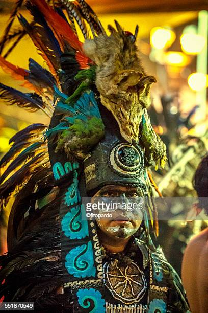 aztec man (real aztec) from mixquic - astecas imagens e fotografias de stock