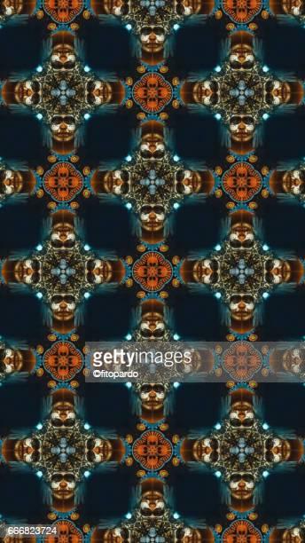 Aztec Person kaleidoscope pattern