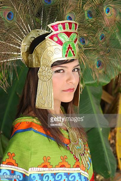 aztec princess series 3 - aztec civilization stock photos and pictures